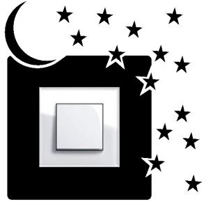 Samolepka na vypínač - noční obloha