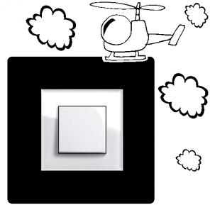 Samolepka na vypínač - vrtulník
