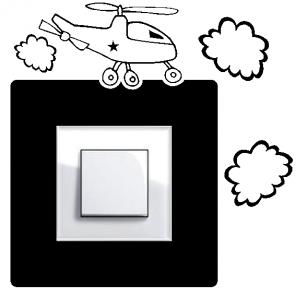 Samolepka pod vypínač - Vrtulník v2