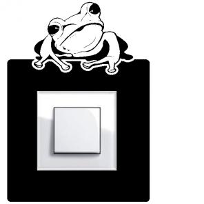 Samolepka pod vypínač - Žába