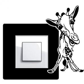 Samolepka pod vypínač - Žirafa