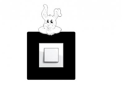 Samolepka na vypínač - králík