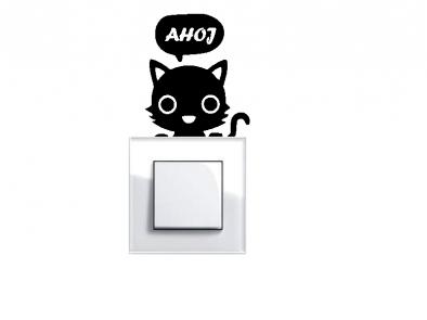 Samolepka pod vypínač - Kočička