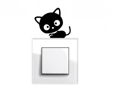 Samolepka pod vypínač - Koťátko