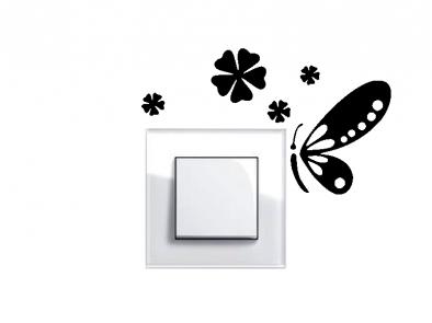 Samolepka pod vypínač - Motýlek