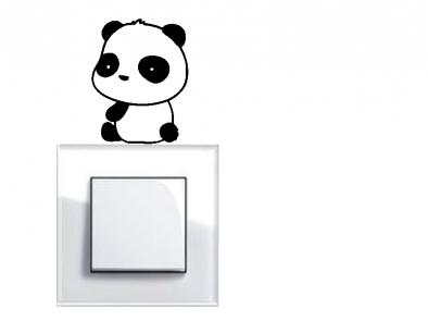 Samolepka pod vypínač - Panda