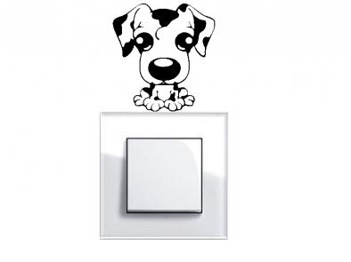 Samolepka pod vypínač - Pes
