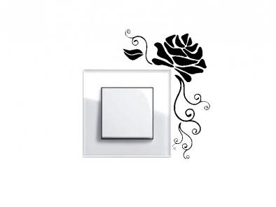 Samolepka pod vypínač - Růže