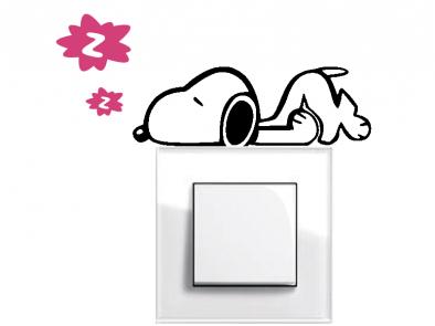 Samolepka pod vypínač - Spící pes