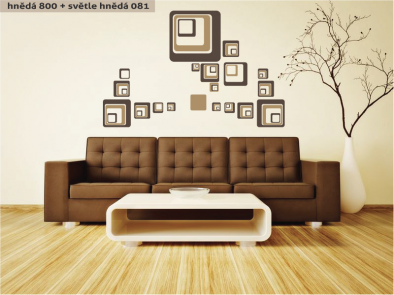 Samolepka na zeď - Čtverce dvoubarevné
