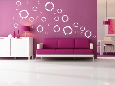 Samolepka na zeď - Moderní kruhy