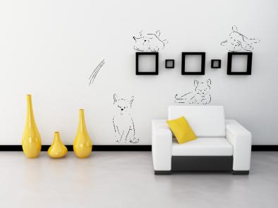 Samolepka na zeď - Roztomilé kočky