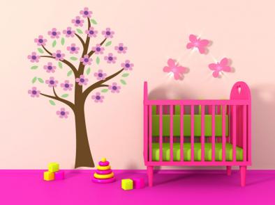 Samolepka na zeď - Strom pro princezny