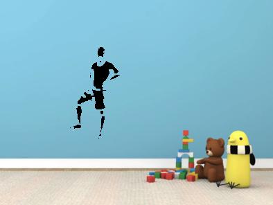 Samolepka na zeď - Fotbalista s vlastním jménem v6