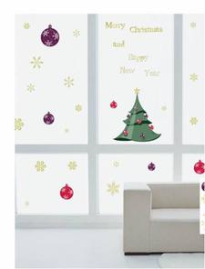 Vánoční samolepka na okna - Vánoční stromeček