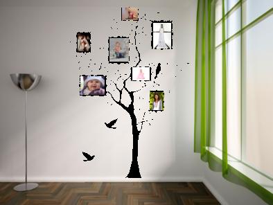Strom s fotorámečky