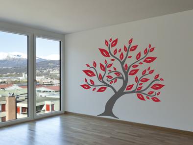 Samolepka na zeď - Listnatý strom