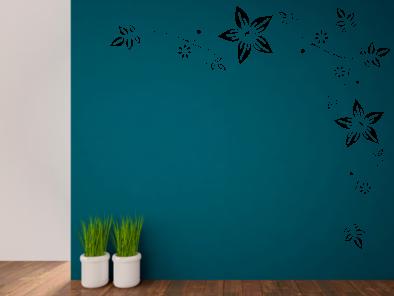 Samolepka na zeď - Ornament s květy
