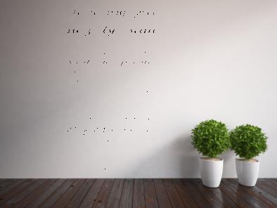 Samolepka na zeď - Je to tvůj život V2