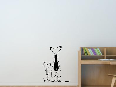 Samolepka na zeď - Dvě surikaty