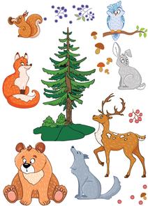 Samolepka na zeď - Lesní zvířátka
