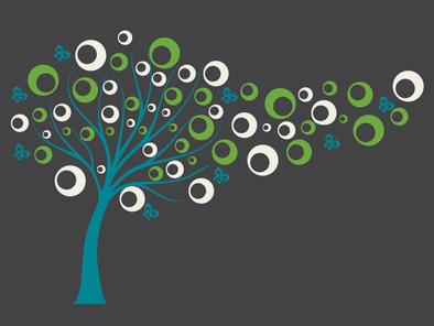 Samolepka na zeď - Bublinkový strom