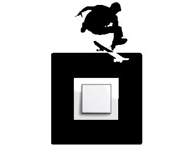 Samolepka pod vypínač - Skatebordista