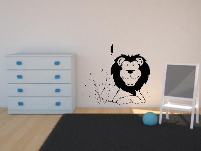 Samolepka na zeď - Lev