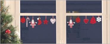 Vánoční dekorace na sklo Felt