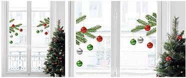 Vánoční dekorace na sklo Christmas tree
