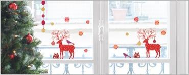 Vánoční dekorace na sklo The deer