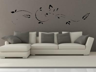 Samolepka na zeď - Motýl s ornamentem V2