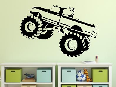Samolepka na zeď - Monstertruck