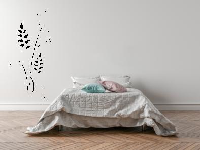 Samolepka na zeď - Pnoucí květ