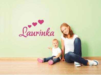 Jméno se srdíčky Laurinka