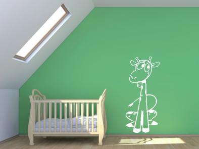 Samolepka na zeď - Veselá žirafa